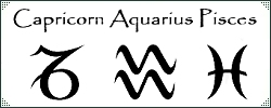 Capricorn Aquarius and Pisces