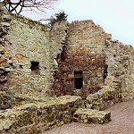 Aberdour Castle: The Service Courtyard contained a bakehouse and a brewhouse and other ancillary buildings.