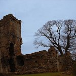 Aberdour Castle: Tower Hose Ruins. Most of the Tower House collapsed in the 19th century.