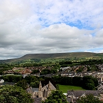 Clitheroe Castle: Pendle Hill from Clitheroe Castle