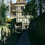 Gawthorpe Hall: Gawthorpe Hall, Padiham - Side entrance from stables.