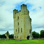 Hemlsley Castle: Remains of the East Tower and Chapel at Helmsley Castle.