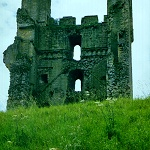 Ruins of the interior of the East Tower at Helmsley Castle