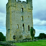 Hemlsley Castle: Remains of the East Tower of Helmsley Castle, which blown up during the Civil War.