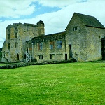 Hemlsley Castle: West Tower, Chamber Block and Latrine Tower of Helmsley Castle from the North Barbican.