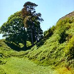 Ditch around Kendal Castle