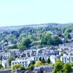 Kendal Castle: View across Kendal and Castle Howe