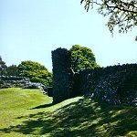 Curtain walls at Kendal Castle