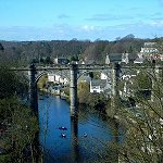 Knaresborough Castle: View of the River Nidd from Knaresborough Castle.