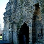 Interior view of the Kings Tower at Knaresborough Castle.