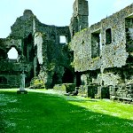Middleham Castle: Northwest Tower of Middleham Castle.