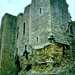 Middleham Castle keep walls.