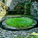 Middleham Castle: Horse Mill and Ovens in the South Range of Middleham Castle.