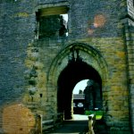 Middleham Castle Gatehouse, the original entrance was on the East Wall.