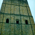 Exterior of the Great Tower at Richmond Castle.