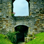Postern Gate in the Curtain Walls at Richmond Castle.