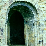 11th Century Castle entrance, now a basement at Richmond Castle.