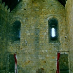 Room in the 12th century keep at Richmond Castle.