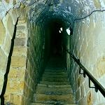 Richmond Castle: Interior Staircase at Richmond Castle.