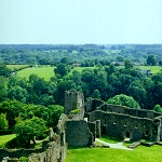 Richmond Castle: View from the top of the keep at Richmond Castle.