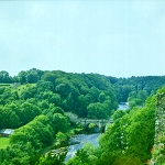 View of the River Swale from Richmond Castle.
