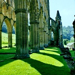 Rievaulx Abbey: Arches in the Presbytery of Rievaulx Abbey.
