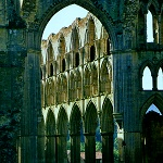Arches in the Presbytery at Rievaulx Abbey.