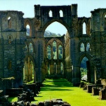 Rievaulx Abbey: View looking down the Nave to the Presbytery at Rievaulx Abbey.
