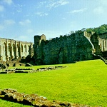 Refectory, Infirmary and Presbytery at Rievaulx Abbey.