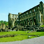 Rievaulx Abbey: Abbots House, Presbytery and South Trancept of Rievaulx Abbey.
