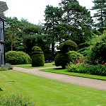 Rufford Old Hall: Rear of the Great Hall and gardens