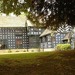 Samlesbury Hall: View of the Samlesbury Hall from the hall grounds.