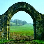 Gate at Sawley Abbey
