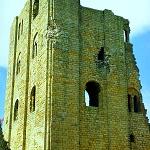 Scarborough Castle: Great Tower at Scarborough Castle.