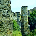 Scarborough Castle: Outer Wall of Scaborough Castle near the Barbican Gatehouse.