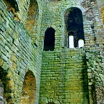 Scarborough Castle: Interior of the Great Tower at Scarborough Castle.