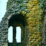 Scarborough Castle: Window in the Great Tower at Scarborough Castle.