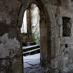 Skipton Castle: Archway in the Chapel at Skipton Castle