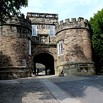 Skipton Castle: Entrance and Gatehouse of Skipton Castle.