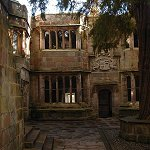 Skipton Castle: Conduit Court, so-called because it was the termination of the spring water supply, at Skipton Castle.