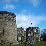 Skipton Castle: Watch Tower near the Lady Anne Steps and Tudor Wing.