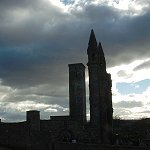 Chancel - St Sandrews Cathedral: A windswept and cold February at St Andrews.