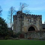The outer gatehouse of the Whalley Abbey
