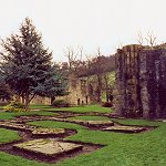 The ruins of Whalley Abbey.