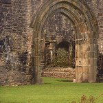 The entrance archway to the Vestry of Whalley Abbey.