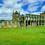 Whitby Abbey: Whitby Abbey, showing the Nave, North and South Trancepts and the Choir, Presbytery and Sanctuary.