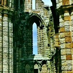Whitby Abbey: Window detail at Whitby Abbey.