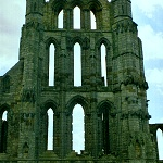 Whitby Abbey: East Trancept of Whitby Abbey.