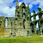 Whitby Abbey: North Trancept of Whitby Abbey.