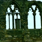 Whitby Abbey: Detail of windows at Whitby Abbey.